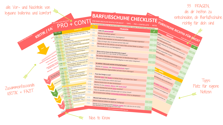 Barfußschuhe Checkliste Vor-und-Nachteile leguano ballerina und komfort Fazit Kritik 33 Fragen, die dir helfen zu entscheiden, ob Barfußschuhe das Richtige für dich sind Tipps