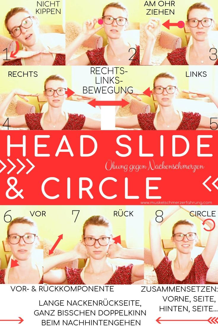Head Slide & Circle Übungen gegen Nackenschmerzen Muskelschmerzerfahrung.com