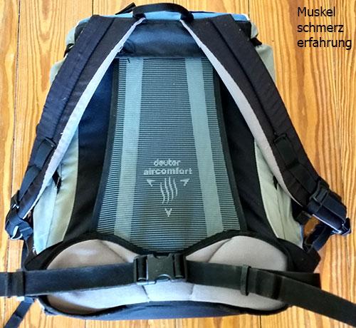 Rucksack mit Rückennetz
