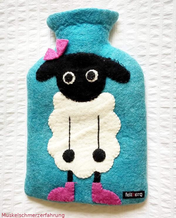 Wärmflasche mit Schaf