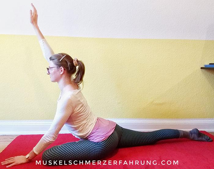 Yoga-Taube Iliopsoas- und Beindehnung