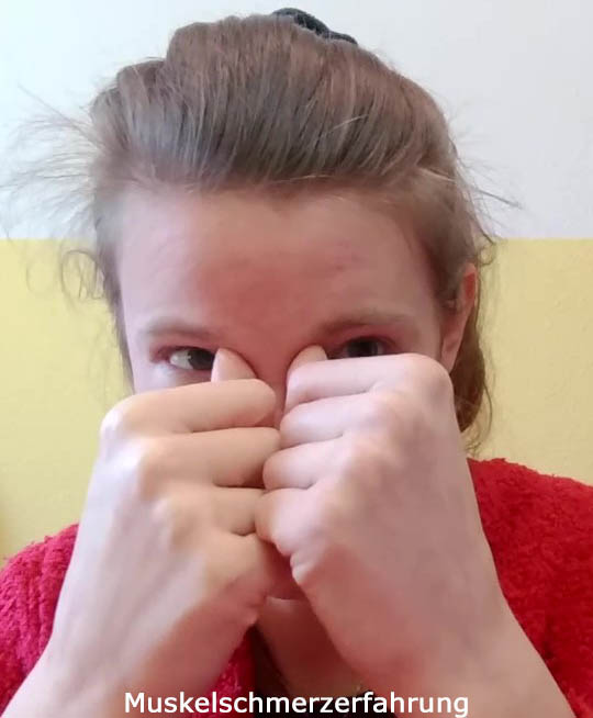 Druckmassage Nasenwurzel