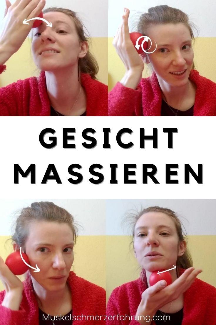 Gesicht massieren